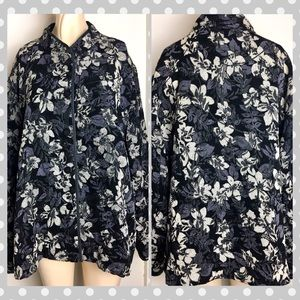 Women's 16W Briggs NY Asian Style Brocade Jacket